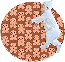 Runde Fußmatte Runde Teppich Schöne Minifiguren