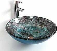 Runde gehärtetem Glas rund Waschen Waschbecken