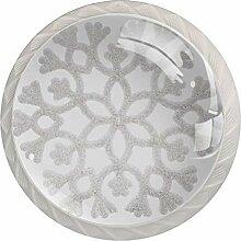 Runde Glas-Türknäufe mit Schraube,