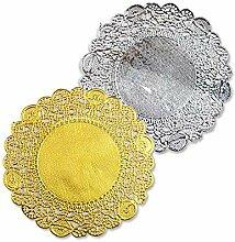 Runde Gold & Silber Folie Metallic-Papier