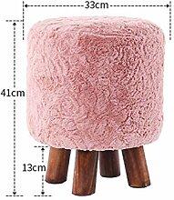 Runde hölzerne Hocker-Sofa-Hocker-Art- und Weiseeinfacher kreativer niedriger Hocker-entfernbarer Hocker für kleinen Hocker für Schuhe Sofa-Hocker (Farbe wahlweise freigestellt) ( farbe : #10 )