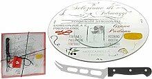 Runde Käseplatte mit Messer Ø 30cm Drehteller