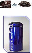 Runde Kaffeedose aus Metall, 10 x 17 cm Kaffee Aufbewahren Kaffeepad Dose Vorratsdose luftdicht 500g