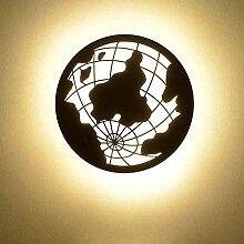 Runde kleine warmweiße 18W LED Wandlampe