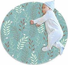 Runde Matte Fußmatten Runde Teppich Blätter