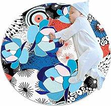 Runde Matte Fußmatten Runde Teppich Kunstblumen