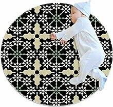 Runde Matte Fußmatten Runde Teppich Mandala Boden