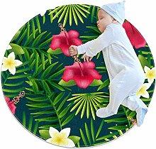 Runde Matte Fußmatten Runde Teppich Schöne Palme