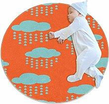 Runde Matte Fußmatten, runder Teppich,