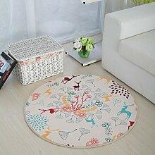 Runde Netter Teppich Für Kinder Moderne Mode Wohnzimmer Schlafzimmer Hängenden Korb Drehstuhl Teppich Verschleißfest Rutschfest Pad Durchmesser 80cm / 100cm / 120cm ( Farbe : 3 , größe : Diameter 80cm )