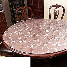 Runde,PVC,Wasserdicht,Transparente Tabelle Mat/Runder Tisch Tuch Tischdecke/Die Platte Kristallglas-B Durchmesser70cm(28inch)