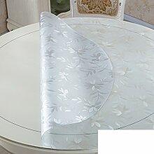 Runde,PVC,Wasserdicht,Transparente Tabelle Mat/Runder Tisch Tuch Tischdecke/Das Kristallglas Tuch-C Durchmesser70cm(28inch)