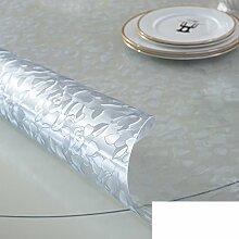 Runde,PVC,Wasserdicht,Transparente Tabelle Mat/Runder Tisch Tuch Tischdecke/Das Kristallglas Tuch-D Durchmesser80cm(31inch)