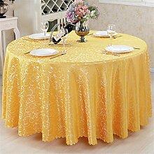 Runde / quadratische Tischdecke für Hochzeit und Bankett, Hotel oder Home Fine Dining Verwendung Blume Hook Table Fabric Cover Tuch , golden hook flower , round 260cm