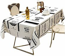 Runde/Rechteckige Tischdecke Wasserdicht, Einfache