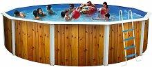 Runde Schwimmbecken canarias, Durchmesser 230 mm bis 640 cm, Holz, 460 cm)