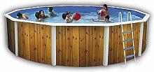 Runde Schwimmbecken canarias, Durchmesser 230 mm bis 640 cm, Holz, 350 cm)