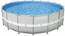 Runde Schwimmbecken Intex Mod Ultra Frame mit Keilrahmen tragende