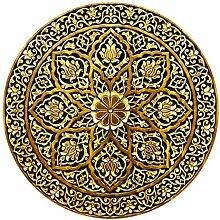 Runde Tapete selbstklebend - Edles Mandala in