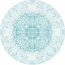 Runde Tapete selbstklebend Mandala Aquarell