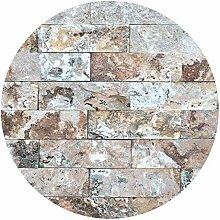 Runde Tapete selbstklebend - Naturmarmor Steinwand