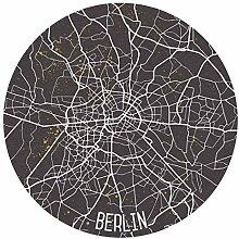 Runde Tapete selbstklebend - Stadtplan Berlin -