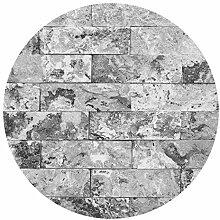 Runde Tapete selbstklebend - Steinwand Naturmarmor