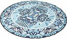 Runde Teppich / Drucken einfache Matte / Wasser waschbar Runde Matte / Schaukelstuhl Matten Kinder krabbeln Matten ( größe : Diameter 150cm )