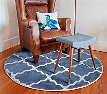 Runde Teppich Einfache Moderne Kreative Mode Schlafzimmer Wohnzimmer Nachttisch Tisch Computer Stuhl Teppich Komfortable Soft ( farbe : # 4 , größe : Diameter 1.2m )