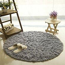 Runde Teppich Einfache Moderne Kreative Mode Schlafzimmer Wohnzimmer Nachttisch Couchtisch Computer Stuhl Teppich Komfortable Soft Mat ( farbe : #3 , größe : Thicken-120cm )