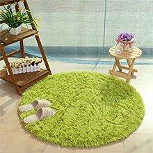 Runde Teppich Einfache Moderne Kreative Mode Schlafzimmer Wohnzimmer Nachttisch Couchtisch Computer Stuhl Teppich Komfortable Soft Mat ( farbe : #1 , größe : Gewöhnlich-100cm )