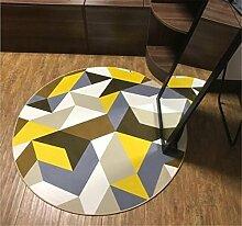 Runde Teppich kann mit einfachen Hause Yoga Computer Stuhl Korb mit gepolsterten Schlafzimmer Wohnzimmer mit Schlafzimmer Teppich gewaschen werden , D , 160*160cm