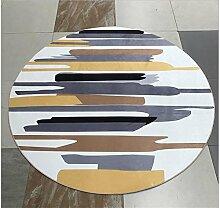 Runde Teppich kann mit einfachen Hause Yoga Computer Stuhl Korb mit gepolsterten Schlafzimmer Wohnzimmer mit Schlafzimmer Teppich gewaschen werden , B , 120*120cm