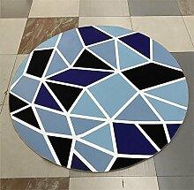 Runde Teppich kann mit einfachen Hause Yoga Computer Stuhl Korb mit gepolsterten Schlafzimmer Wohnzimmer mit Schlafzimmer Teppich gewaschen werden , C , 80*80cm