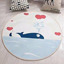 Runde Teppich Kinder Kissen Pad Wohnzimmer Schlafzimmer Teppich , 4 , 160cm