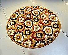 Runde Teppich Koralle Samt Zelt Teppich Korb Stuhl Rutschfester Teppich ( farbe : #19 , größe : Diameter 120cm )