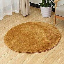 Runde Teppich Schaffell Mikrofaser Waschbare