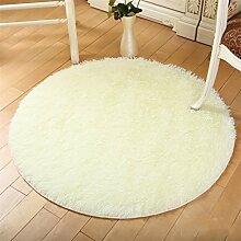 Runde Teppich Teppich Fitness Yoga Teppich Computer Stuhl Kissen Schlafzimmer Wohnzimmer Bettdecke Teppich ( Farbe : D , größe : Diameter 200CM )