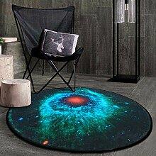 Runde Teppich Teppich Fitness Yoga Teppich Computer Stuhl Kissen Schlafzimmer Wohnzimmer Bettdecke Teppich ( Farbe : A , größe : Diameter120CM )