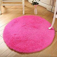 Runde Teppich Teppich Fitness Yoga Teppich Computer Stuhl Kissen Schlafzimmer Wohnzimmer Bettdecke Teppich ( Farbe : A , größe : Diameter 140CM )