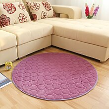 Runde Teppich Teppich Fitness Yoga Teppich Computer Stuhl Kissen Schlafzimmer Wohnzimmer Bettdecke Teppich ( Farbe : B , größe : Diameter 160CM )