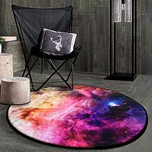 Runde Teppich Teppich Fitness Yoga Teppich Computer Stuhl Kissen Schlafzimmer Wohnzimmer Bettdecke Teppich ( Farbe : B , größe : Diameter 80CM )