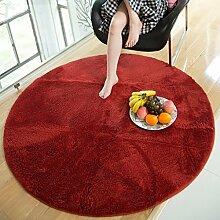 Runde Teppich Teppich Fitness Yoga Teppich Computer Stuhl Kissen Schlafzimmer Wohnzimmer Bettdecke Teppich ( Farbe : B , größe : Diameter 140CM )