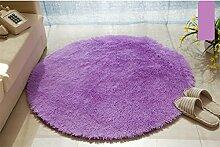 Runde Teppich Teppich Fitness Yoga Teppich Computer Stuhl Kissen Schlafzimmer Wohnzimmer Bedside Teppich ( Farbe : 8# , größe : Diameter120CM )