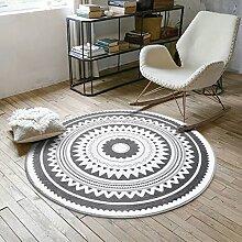 Runde Teppich Teppich Fitness Yoga Teppich Computer Stuhl Kissen Schlafzimmer Wohnzimmer Bettdecke Teppich ( größe : Diameter 180CM )