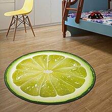 Runde Teppich Teppich Fitness Yoga Teppich Computer Stuhl Kissen Schlafzimmer Wohnzimmer Bettdecke Teppich ( Farbe : D , größe : Diameter 80cm )