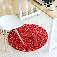 Runde Teppich Teppich Fitness Yoga Teppich Computer Stuhl Kissen Schlafzimmer Wohnzimmer Bettdecke Teppich ( Farbe : B , größe : Diameter 100cm )
