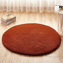 Runde Teppich Teppich Fitness Yoga Teppich Computer Stuhl Kissen Schlafzimmer Wohnzimmer Bettdecke Teppich ( Farbe : C , größe : Diameter120CM )
