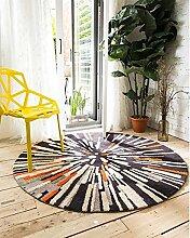 Runde Teppich Teppich Fitness Yoga Teppich Computer Stuhl Kissen Schlafzimmer Wohnzimmer Bettdecke Teppich ( größe : Diameter 80CM )