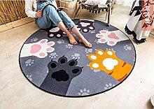 Runde Teppich Teppich Fitness Yoga Teppich Computer Stuhl Kissen Schlafzimmer Wohnzimmer Bettdecke Teppich ( größe : Diameter 120CM )